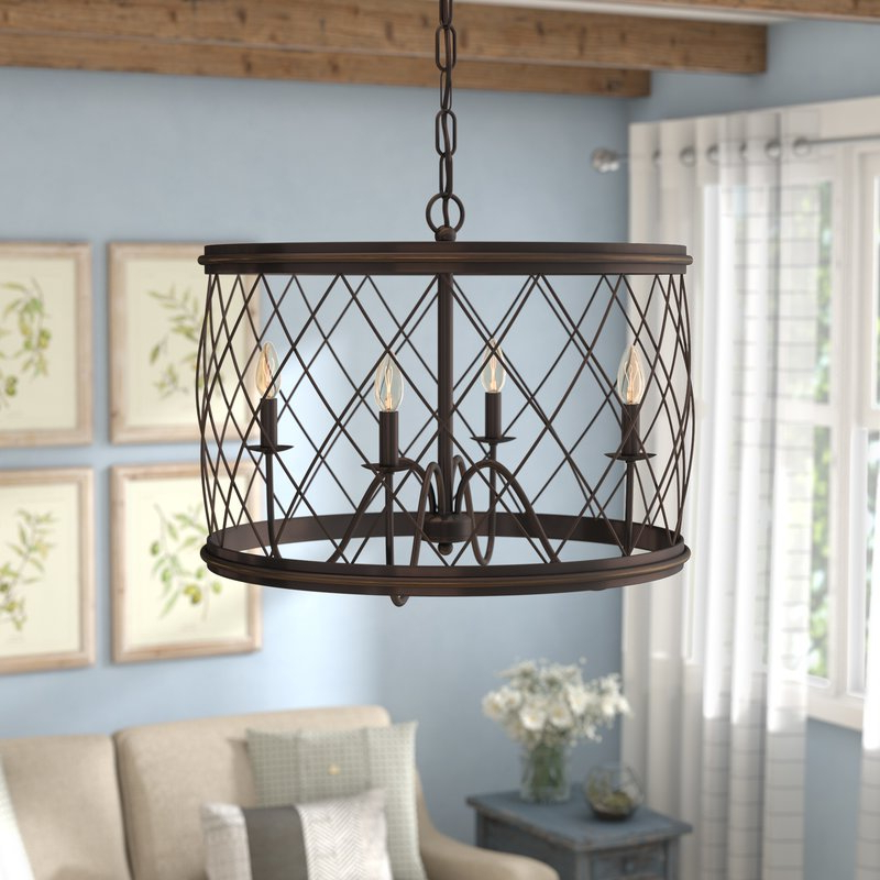 Favorite Gabriel 4 Light Candle Style Chandelier Regarding Cavanagh 4 Light Geometric Chandeliers (View 17 of 30)