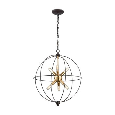 Favorite Joon 6 Light Globe Chandeliers In Mercury Row Cogdill 6 Light Globe Chandelier (View 9 of 30)