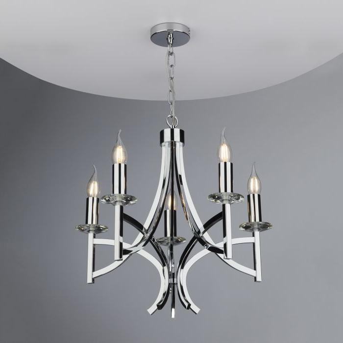 Favorite Lyon 3 Light Unique / Statement Chandeliers For Lyon 5Lt Pendant Polished Chrome & Crystal (Gallery 26 of 30)