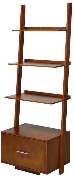 Favorite Mercury Row Carlucci Ladder Bookcase Inside Rupert Ladder Bookcases (View 5 of 20)