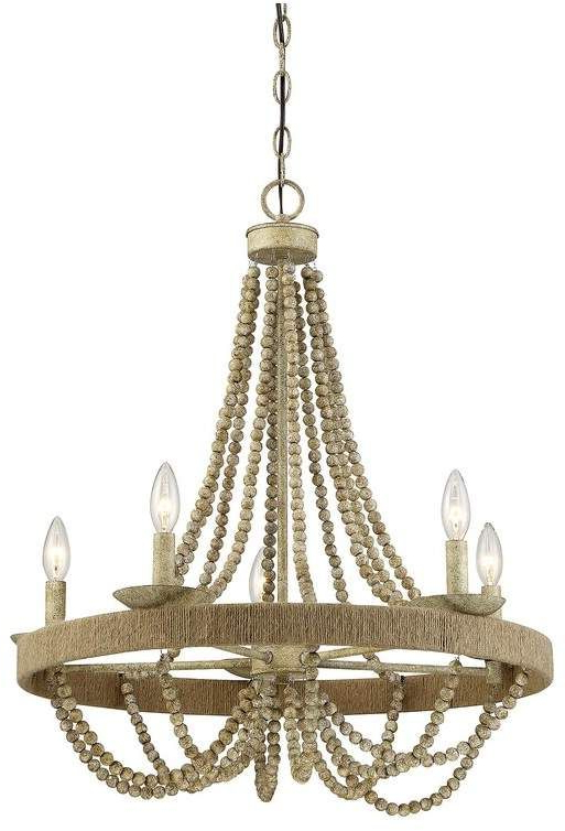 Favorite Mistana Duron 5 Light Empire Chandelier In  (View 17 of 30)