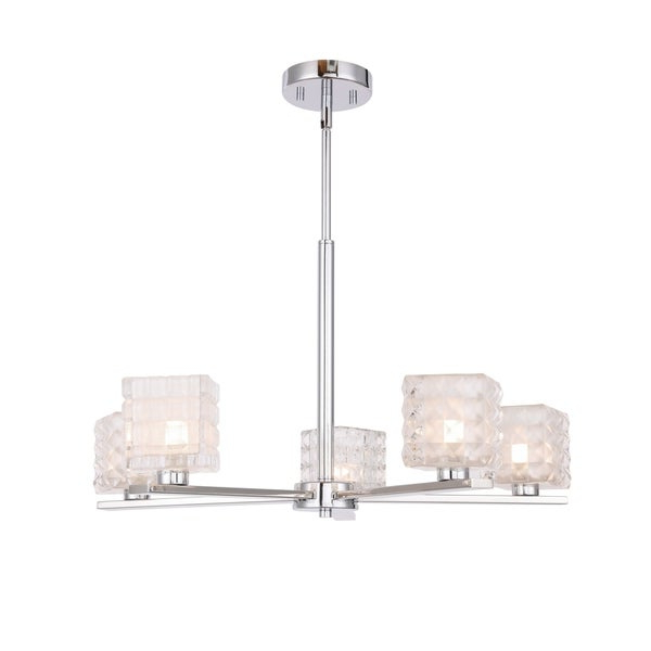Favorite Shop Woodbridge 17315chrle Claudia 5l Chandelier W/ Led – On Intended For Hewitt 4 Light Square Chandeliers (View 19 of 30)