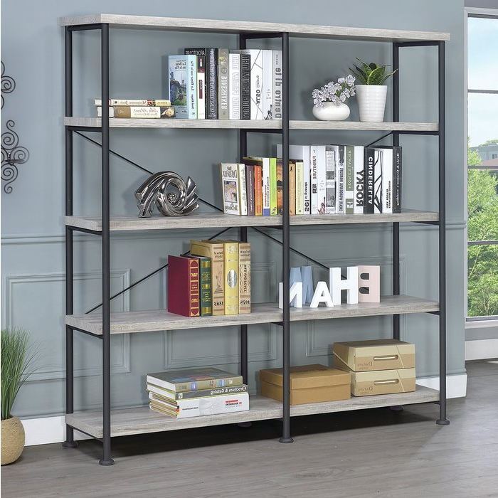 Favorite Thea Blondelle Library Bookcase Regarding Mabie Library Bookcases (View 19 of 20)