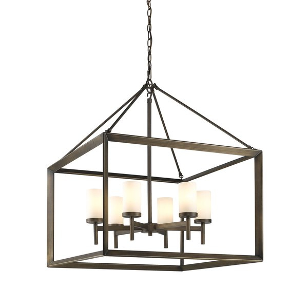 Favorite Thorne 6 Light Lantern Square / Rectangle Pendants Intended For Modern & Contemporary Outdoor Ceiling Light Fixture (Gallery 28 of 30)