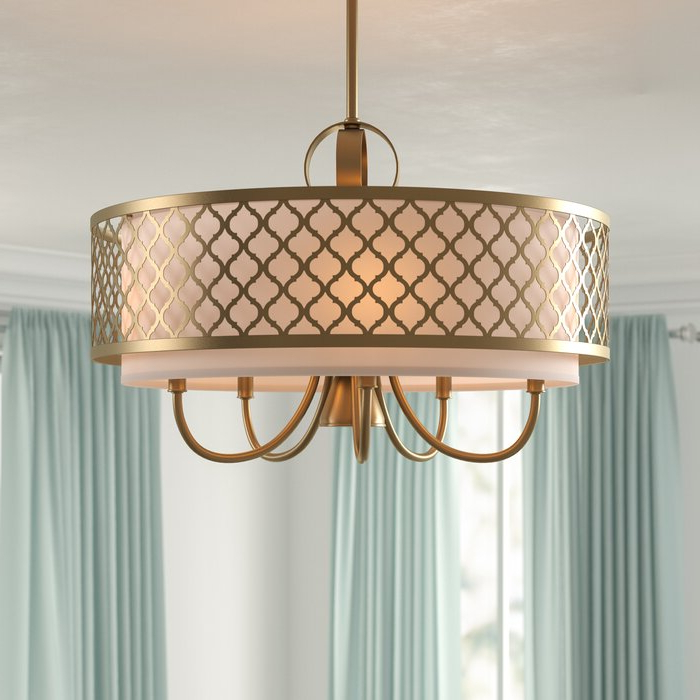 Favorite Tymvou 6 Light Drum Chandelier Pertaining To Wightman Drum Chandeliers (Gallery 23 of 30)