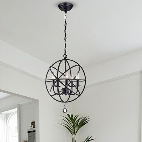 Favorite Waldron 5 Light Globe Chandeliers Intended For Pinterest (View 9 of 30)
