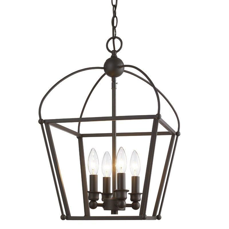 Finnick 3 Light Lantern Pendants With Regard To Fashionable Gladding 4 Light Foyer Lantern Pendant (View 14 of 30)