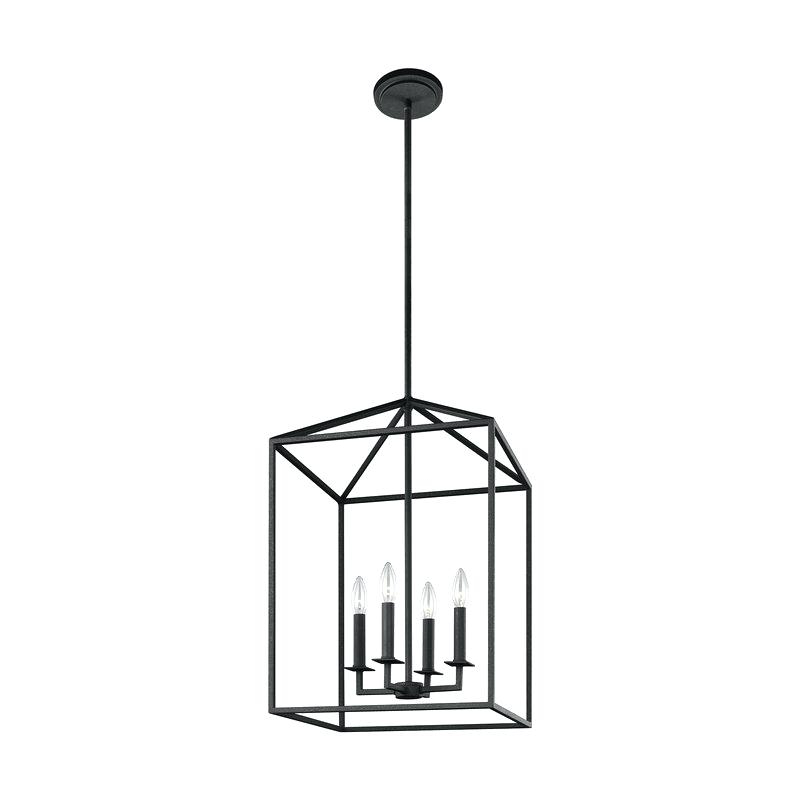 Finnick 4 Light Foyer Pendants Pertaining To Well Known Odie 4 Light Foyer Pendant – Odiliazullo (View 15 of 30)