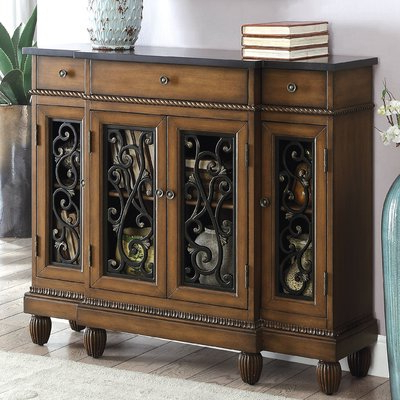 Fleur De Lis Living Cedarville Traditional Hallway 3 Drawer For Widely Used Shoreland Sideboards (Gallery 13 of 20)