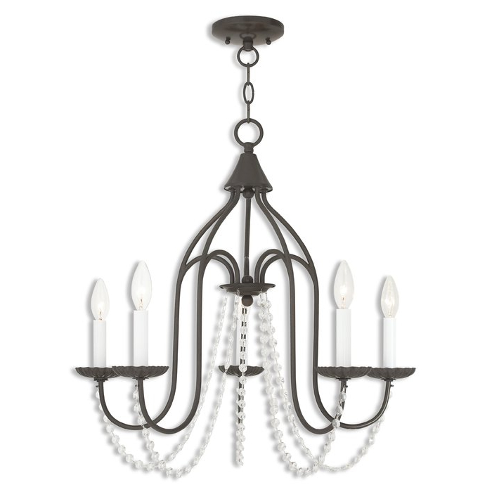 Florentina 5 Light Candle Style Chandelier With Regard To Current Florentina 5 Light Candle Style Chandeliers (View 4 of 30)