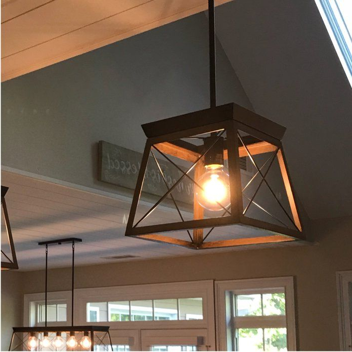 For The Home With Popular Delon 1 Light Lantern Geometric Pendants (View 18 of 30)