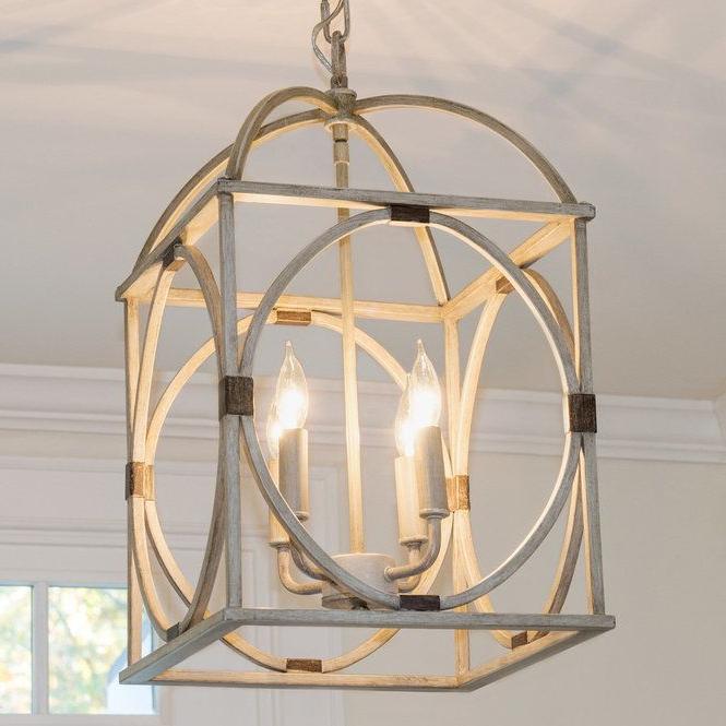 Foyer & Entrance In Popular Nisbet 4 Light Lantern Geometric Pendants (View 4 of 30)