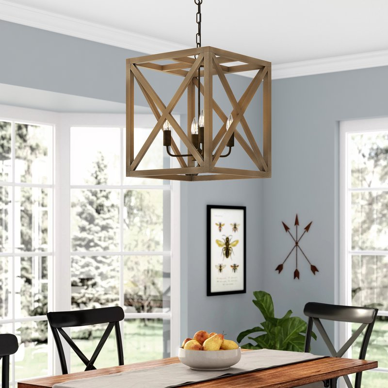 Freeburg 4 Light Lantern Square / Rectangle Pendants Throughout Favorite William 4 Light Lantern Square / Rectangle Pendant (View 12 of 30)