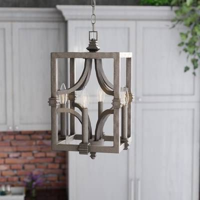 Freeburg 4 Light Square/rectangle Pendant In 2019 Throughout Famous Destrey 3 Light Lantern Square/rectangle Pendants (Gallery 14 of 30)