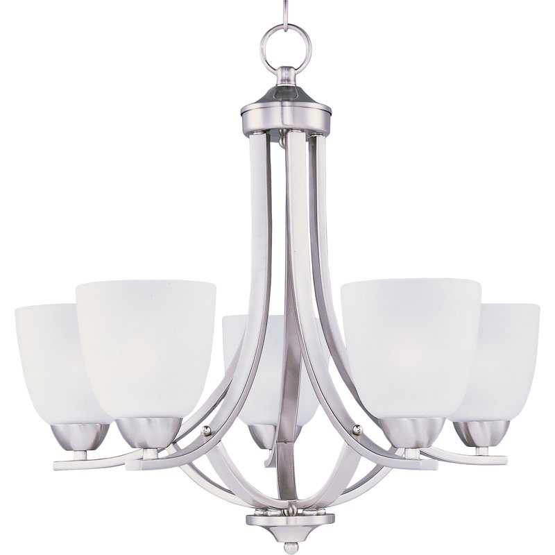 Gaines 5 Light Shaded Chandeliers Intended For Trendy Hayden 5 Light Shaded Chandelier (View 11 of 30)