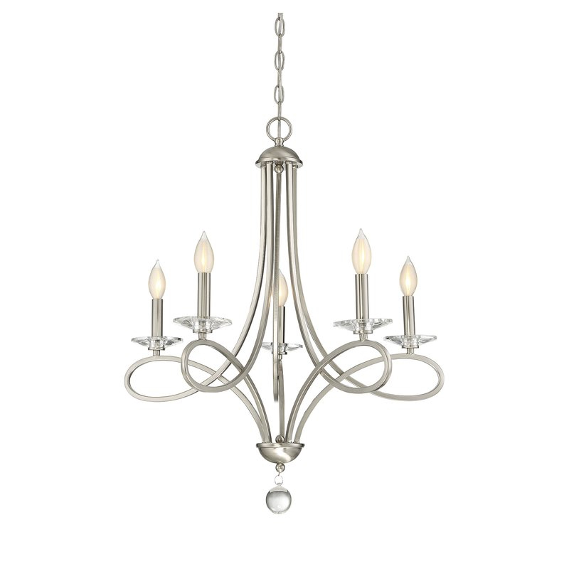 Gaines 5 Light Shaded Chandeliers Pertaining To Favorite Berger 5 Light Candle Style Chandelier (View 24 of 30)