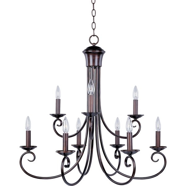 Gaines 9 Light Candle Style Chandeliers Regarding 2019 Kenedy 9 Light Candle Style Chandelier (View 11 of 30)