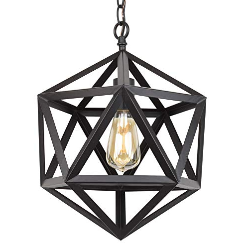 Geometric Chandelier: Amazon Inside Trendy Kaycee 4 Light Geometric Chandeliers (View 5 of 30)