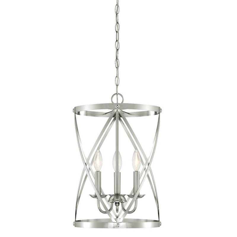Gingerich 3 Light Lantern Pendant In Famous Nisbet 6 Light Lantern Geometric Pendants (View 15 of 30)