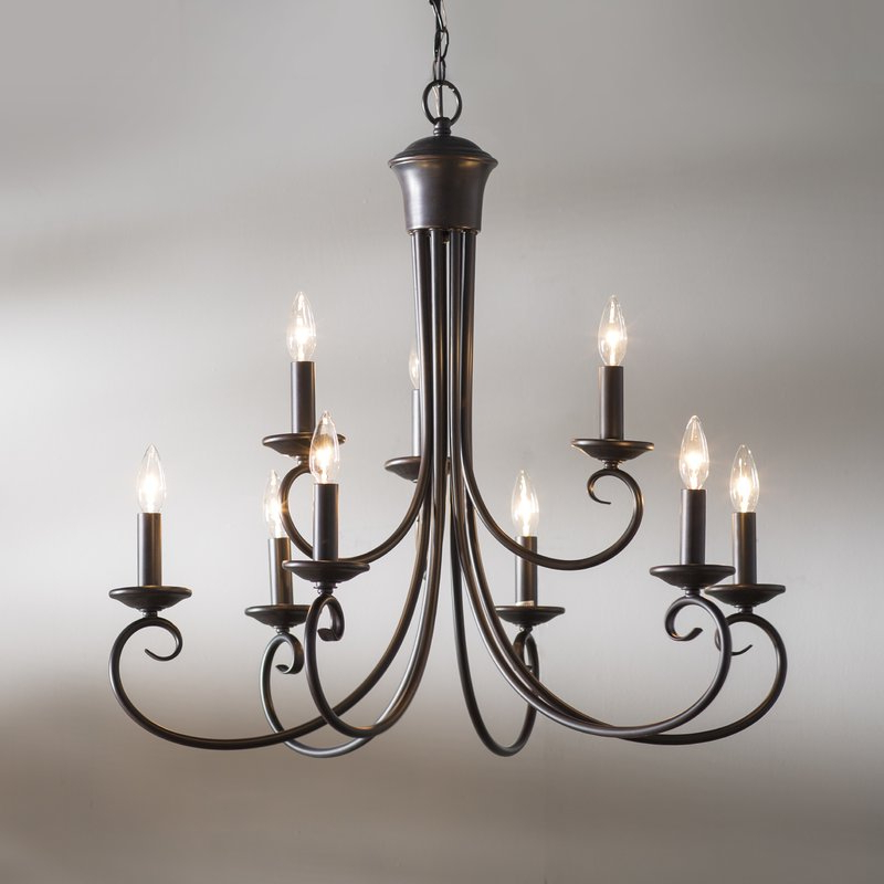 Giverny 9 Light Candle Style Chandeliers In Most Up To Date Kenedy 9 Light Candle Style Chandelier (View 15 of 30)