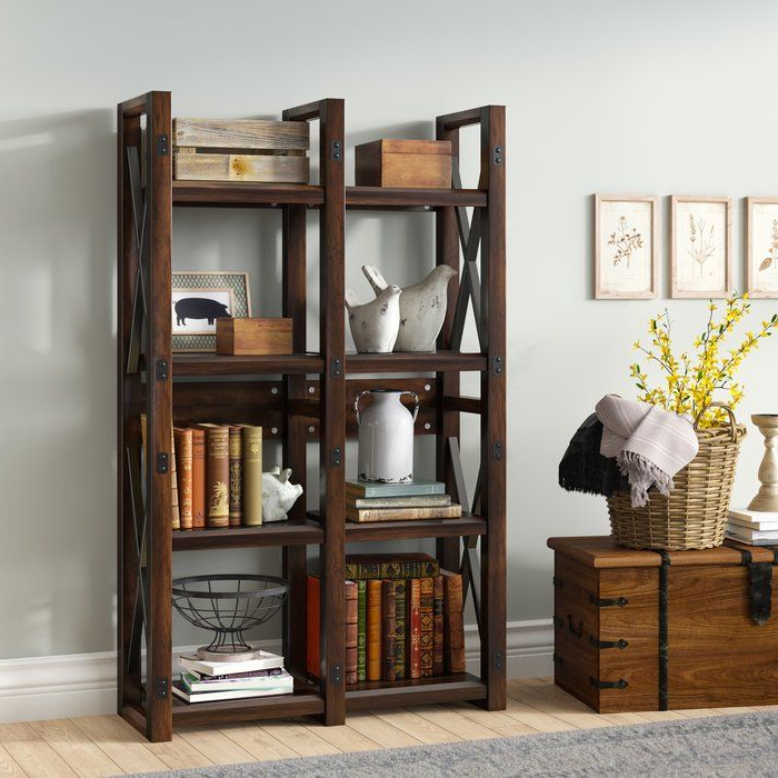 Gladstone Etagere Bookcase In  (View 6 of 20)