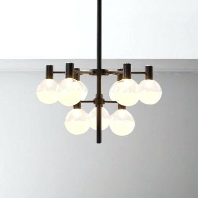 Globe Chandelier Lighting Modern For Living Room Restaurant Within Fashionable La Barge 3 Light Globe Chandeliers (View 4 of 30)