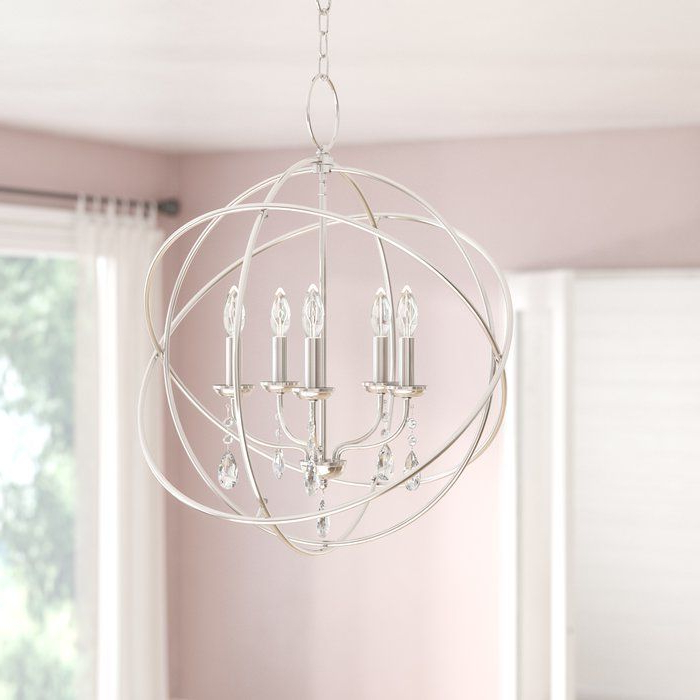 Globe With Latest Waldron 5 Light Globe Chandeliers (View 11 of 30)