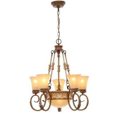 Gold – Candle Style – Chandeliers – Lighting – The Home Depot With Regard To 2019 Florentina 5 Light Candle Style Chandeliers (View 27 of 30)