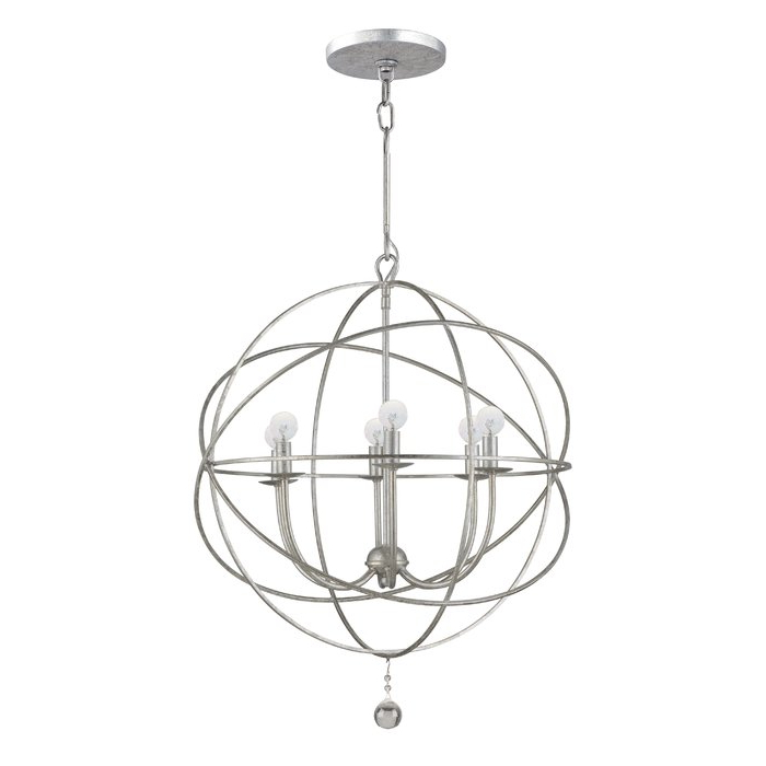 Gregoire 6 Light Globe Chandelier With Regard To Favorite Eastbourne 6 Light Unique / Statement Chandeliers (View 14 of 30)