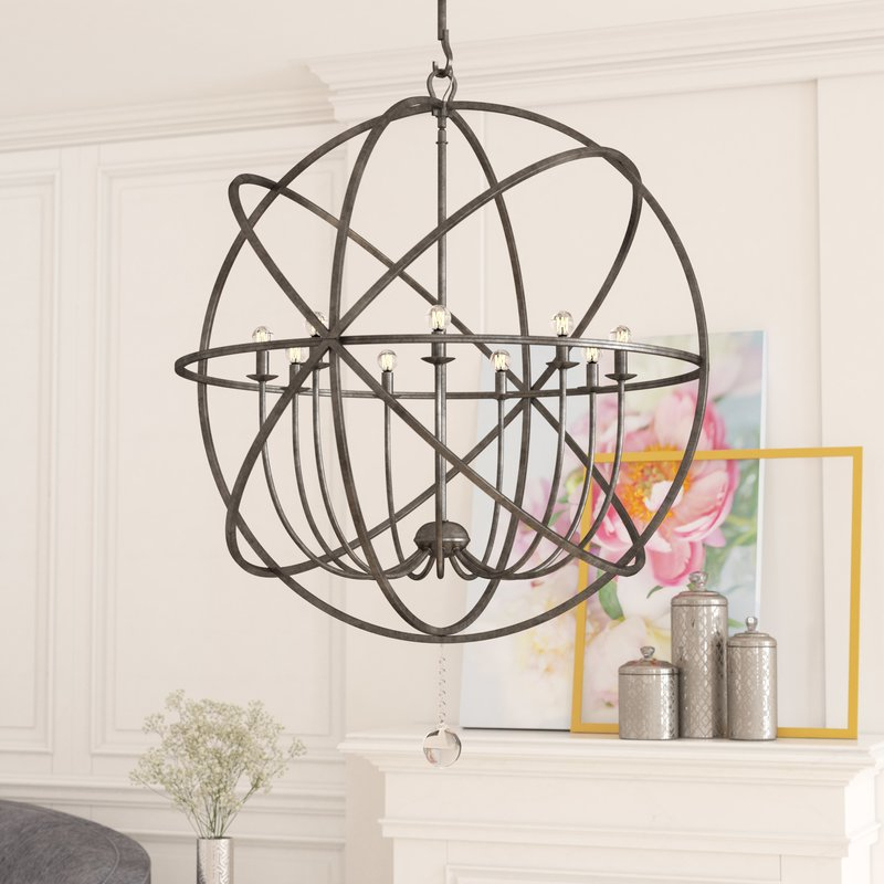 Gregoire 9 Light Globe Chandelier Intended For Most Current Gregoire 6 Light Globe Chandeliers (View 21 of 30)