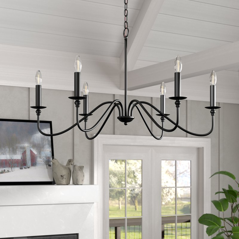 Hamza 6 Light Candle Style Chandelier For Well Known Perseus 6 Light Candle Style Chandeliers (View 5 of 30)