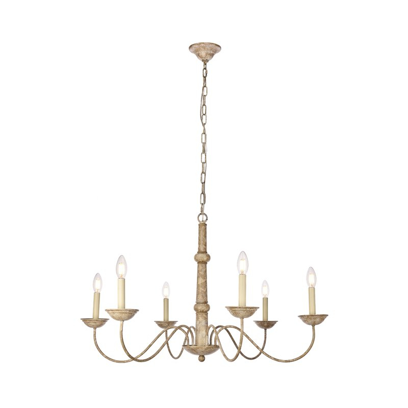 Hamza 6 Light Candle Style Chandeliers In Most Recently Released Seneca 6 Light Candle Style Chandelier (View 8 of 30)