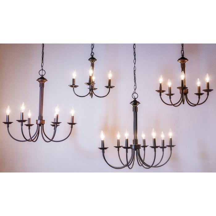 Hamza 6 Light Candle Style Chandeliers Regarding Most Current Shaylee 5 Light Candle Style Chandelier (View 10 of 30)