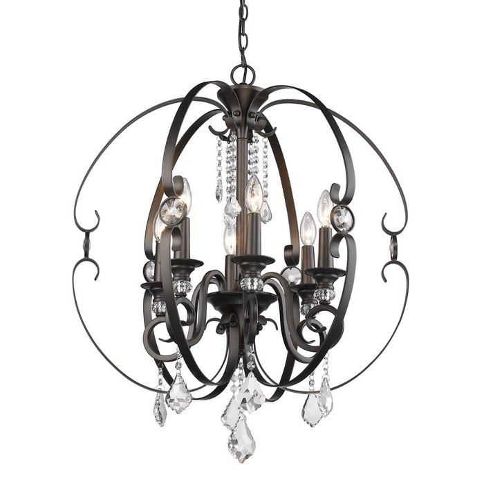Hardouin 6 Light Globe Chandelier Pertaining To Most Popular Alden 6 Light Globe Chandeliers (View 18 of 30)