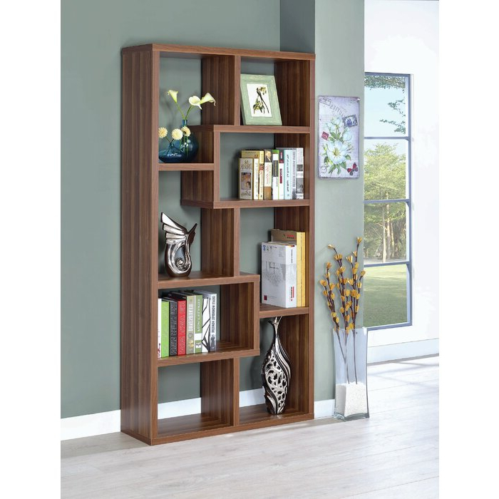 Harkless Standard Bookcases Within Trendy Harkless Geometric Bookcase (View 13 of 20)