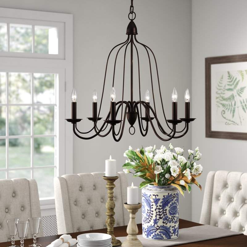 Hatfield 6 Light Candle Style Chandelier Pertaining To Most Recently Released Watford 9 Light Candle Style Chandeliers (Gallery 12 of 30)