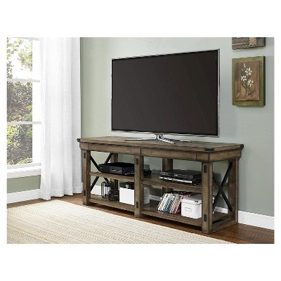 """Hathaway Wood Veneer Tv Stand For Tvs Up To 65"""" Espresso Inside Well Liked Parmelee Tv Stands For Tvs Up To 65"""" (View 14 of 20)"""