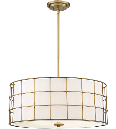 Hayden 5 Light 25 Inch Warm Brass Pendant Ceiling Light With Favorite Hayden 5 Light Shaded Chandeliers (Gallery 10 of 30)