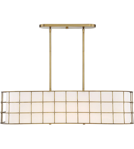 Hayden 5 Light 42 Inch Warm Brass Linear Chandelier Ceiling Light For Well Known Hayden 5 Light Shaded Chandeliers (View 17 of 30)