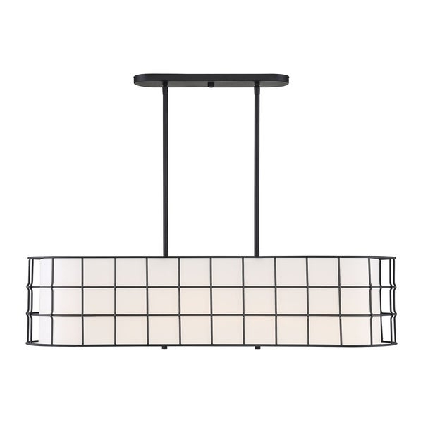 Hayden 5 Light Shaded Chandeliers Throughout 2019 Shop Hayden 5 Lights Black Linear Chandelier – Free Shipping (View 12 of 30)