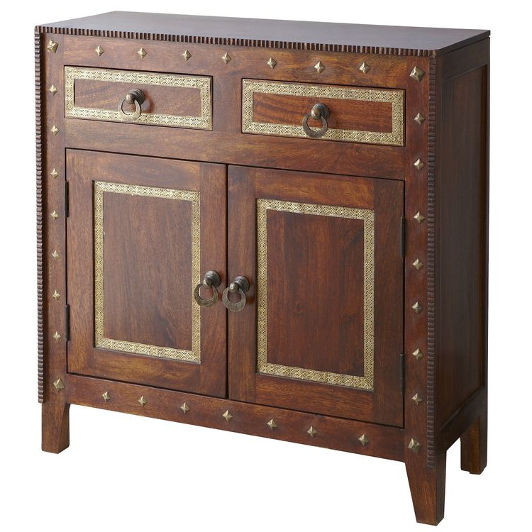 Hayslett Sideboards Regarding Most Recent Heera Brown Mango Wood Cabinet (View 19 of 20)