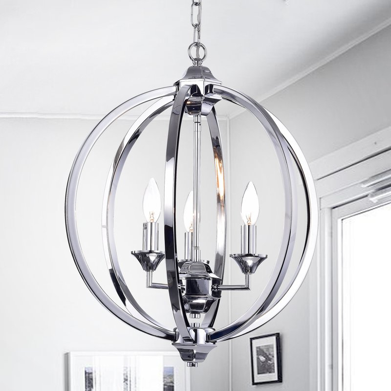 Hendry 4 Light Globe Chandeliers Pertaining To Latest Minneota 3 Light Globe Chandelier (Gallery 10 of 30)