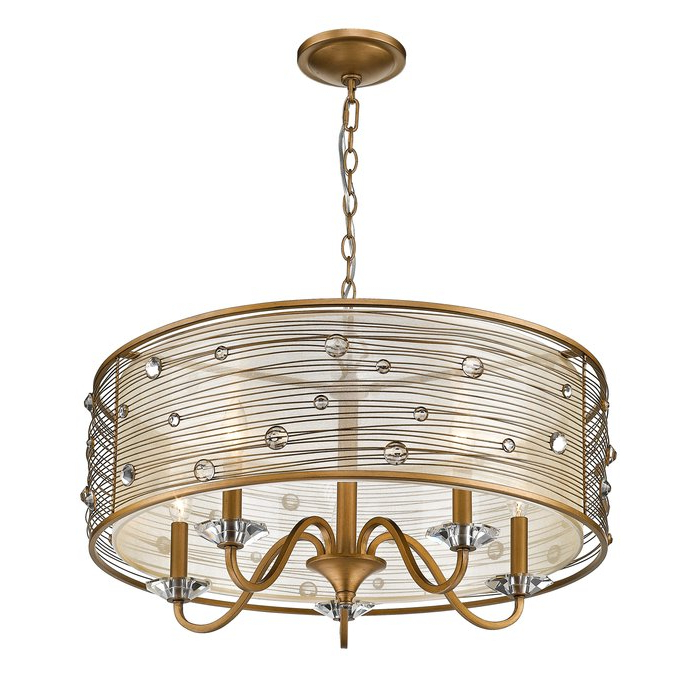 Hermione 5 Light Drum Chandelier Intended For 2020 Hermione 5 Light Drum Chandeliers (View 7 of 30)
