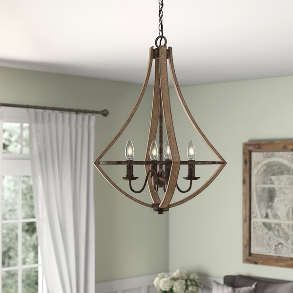 Hesse 5 Light Candle Style Chandeliers Regarding Trendy Reimers 4 Light Candle Style Chandelier (View 18 of 30)