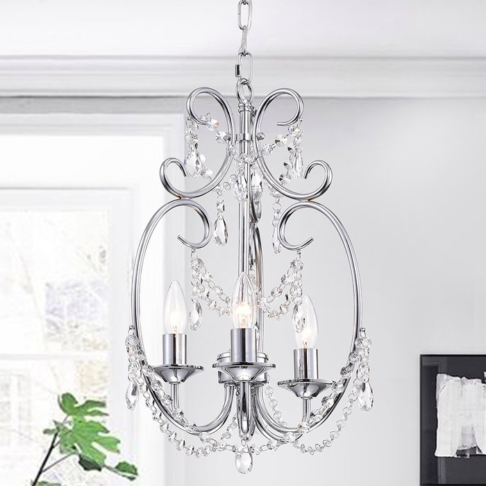 Hesse 5 Light Candle Style Chandeliers Throughout Preferred Alasdair 3 Light Candle Style Chandelier (View 19 of 30)