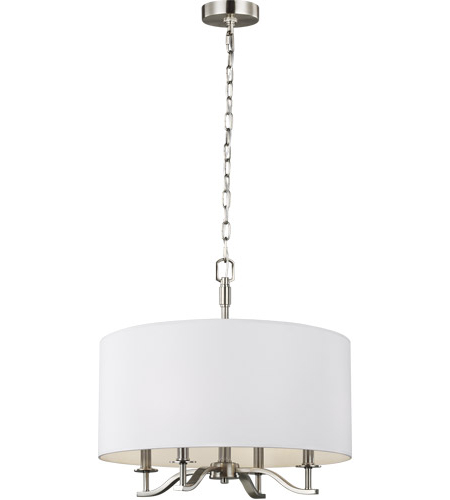Hewitt 20 Inch Satin Nickel Chandelier Ceiling Light Regarding Famous Hewitt 4 Light Square Chandeliers (View 11 of 30)