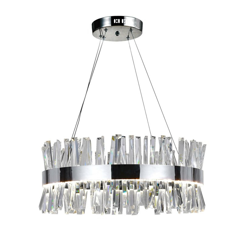 Hewitt 4 Light Square Chandeliers Intended For Best And Newest Faye 1 Light Led Drum Chandelier (View 21 of 30)