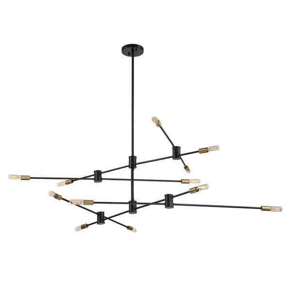 Hidalgo 12 Light Sputnik Chandelierallmodern Inside Latest Asher 12 Light Sputnik Chandeliers (Gallery 27 of 30)