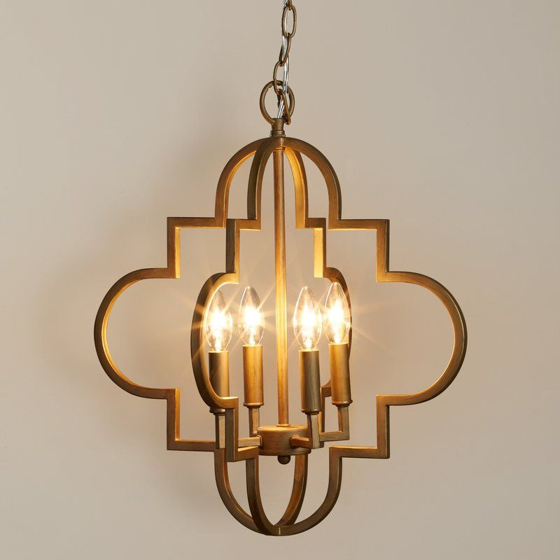 Home Office Ideas Regarding Most Popular Kaycee 4 Light Geometric Chandeliers (View 8 of 30)