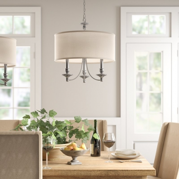Inspiring Dining Room Drum Chandelier Idea – Decorichmond Pertaining To Trendy Montes 3 Light Drum Chandeliers (View 20 of 30)